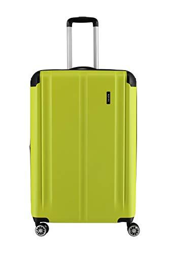 """Travelite Leicht, flexibel, sicher: """"City""""-Hartschalenkoffer für Urlaub und Business (auch mit Vortasche) Koffer, 77 cm, 113 Liter, Limone"""