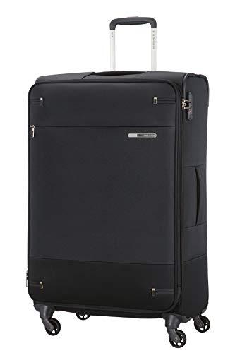 Samsonite Base Boost - Spinner L Erweiterbar Koffer, 78 cm, 105/112.5 L, Schwarz (Black)