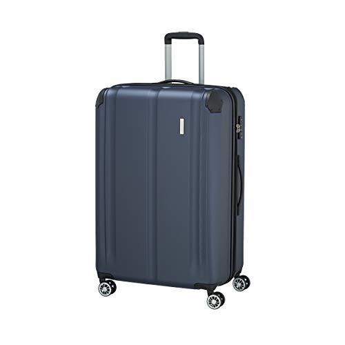 """Travelite Leicht, flexibel, sicher: """"City""""-Hartschalenkoffer für Urlaub und Business (auch mit Vortasche) Koffer, 77 cm, 113 Liter, Marine"""