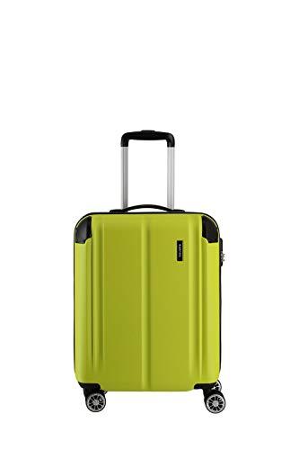"""Travelite Leicht, flexibel, sicher: """"City""""-Hartschalenkoffer für Urlaub und Business (auch mit Vortasche) Koffer, 55 cm, 40 Liter, Limone"""