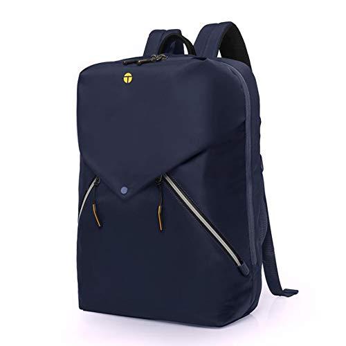 Tangcool Anti-Diebstahl-Laptoprucksack mit Trolley-Koffer, Fixierstreifen, Schultertasche, Lokomotive, wasserdichte Herren-Tasche Blau blau 44cmx33cmx18cm