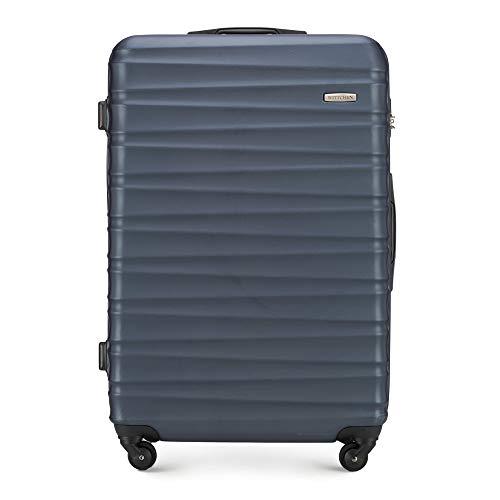WITTCHEN Koffer – Großer | hartschalen, Material: ABS | hochwertiger und Stabiler | Blau | 96 L | 77x29x52 cm