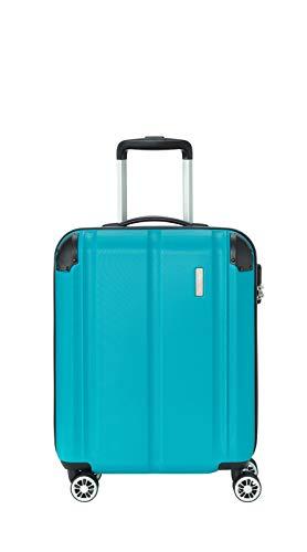 """Travelite Leicht, flexibel, sicher: """"City""""-Hartschalenkoffer für Urlaub und Business (auch mit Vortasche) Koffer, 55 cm, 40 Liter, Petrol"""
