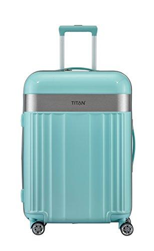 TITAN 4-Rad Koffer Größe M mit TSA Schloss, Gepäck Serie SPOTLIGHT: Edler Trolley in trendigen Farben, 831405-81, 67 cm, 69 Liter, mint (türkis)