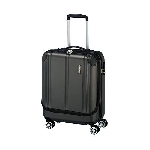 """Travelite Leicht, flexibel, sicher: """"City""""-Hartschalenkoffer für Urlaub und Business (auch mit Vortasche) Koffer, 55 cm, 40 Liter, Anthrazit"""