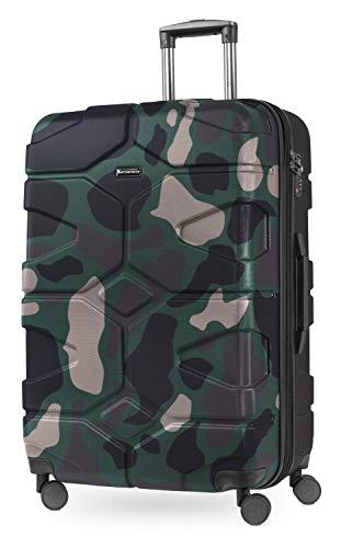 HAUPTSTADTKOFFER - X-Kölln - Hartschalen-Koffer Koffer Trolley Rollkoffer Reisekoffer, TSA, 76 cm, 120 Liter, Camouflage matt 82311005