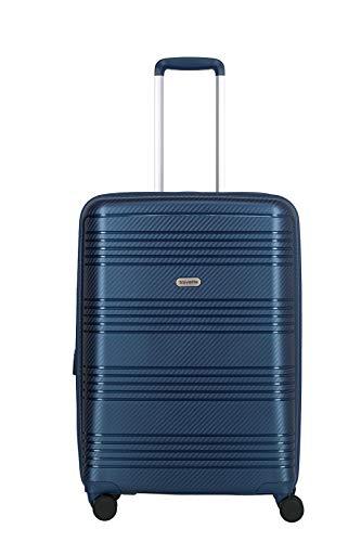 travelite 4-Rad Koffer Hartschale mit Dehnfalte + TSA Schloss, Gepäck Serie ZENIT: Robuster Hartschalen Trolley in unverwechselbarer Optik, 075748-20, 68 cm, 72 Liter (erweiterbar auf 77 Liter), blau