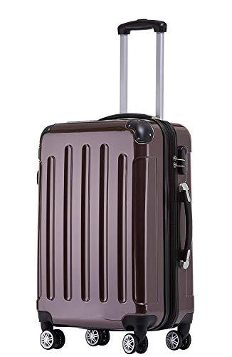 BEIBYE Zwillingsrollen 2048 Hartschale Trolley Koffer Reisekoffer Taschen Gepäck in M-L-XL-Set (Coffee, XL)