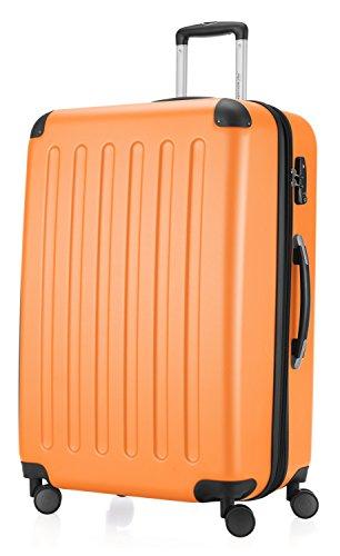 HAUPTSTADTKOFFER - Spree - Hartschalen-Koffer Koffer Trolley Rollkoffer Reisekoffer Erweiterbar, 4 Rollen, TSA, 75 cm, 119 Liter, Orange
