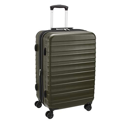 Amazon Basics – Premium-Hartschalenkoffer, robust, 56 cm, grün