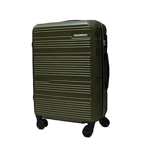 Trolley-Set aus ABS-Hartschalen, 3 Stück, Reisegepäck, 8 Räder, 80100, Militärgrün, 70/60/50 cm, groß/mittel/klein