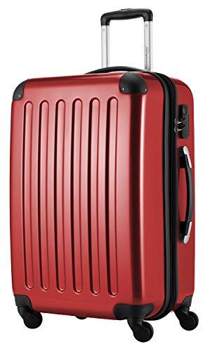 HAUPTSTADTKOFFER - Alex - Hartschalen-Koffer Koffer Trolley Rollkoffer Reisekoffer Erweiterbar,  4 Rollen, 65 cm, 74 Liter, Rot