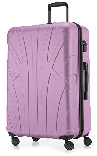 Suitline großer Hartschalen-Koffer Koffer Trolley Rollkoffer XL Reisekoffer, TSA, 76 cm, ca. 86 Liter, 100% ABS Matt, Flieder