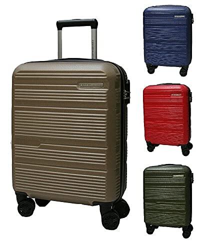 Trolley-Set aus ABS-Hartschalen, 3 Stück, Reisegepäck, 8 Räder, 80100, dunkelgrau, 70/60/50 cm, groß/mittel/klein