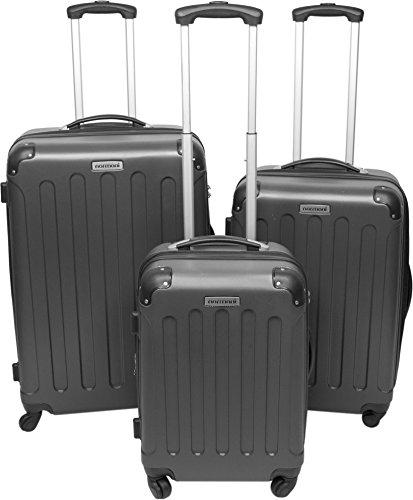 normani® Hartschalen-Kofferset aus ABS - Trolley, Koffer, Reisekoffer Farbe ANTHRAZIT
