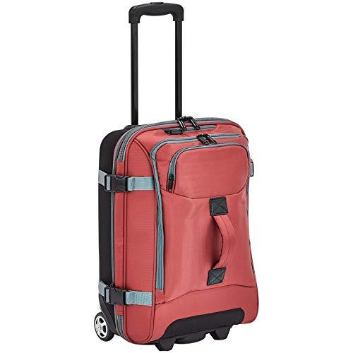 Amazon Basics - Kleine Reisetasche mit Rollen, Rot