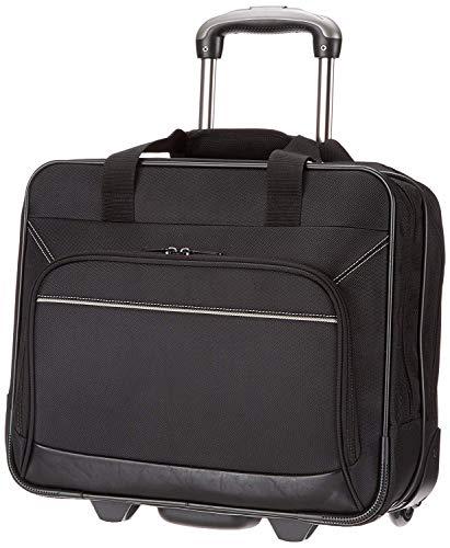 Amazon Basics - Laptop-Trolley, mit schnell laufenden Rollen und leicht zugänglicher Vordertasche - geeignet für Laptops bis 16 Zoll (40 cm)