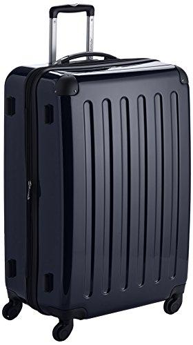 HAUPTSTADTKOFFER - Alex - Hartschalen-Koffer Koffer Trolley Rollkoffer Reisekoffer Erweiterbar, 4 Rollen, 75 cm, 119 Liter, Schwarz