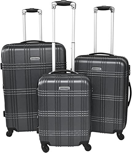 normani REISEKOFFER REISEKOFFERSET Trolley Koffer 2er oder 3er Set, 4 kugelgelagerte Leichtlauf-Rollen, 360-Grad-Rollen-System Farbe Anthracite