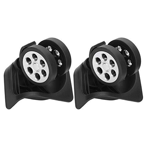 Zweireihiger, verschleißfester schwarzer Reisekoffer Universalrollen Ersatz für langlebige Stummkoffer Ersatzrad Silent Double Roller Sheels für Gepäcktaschen