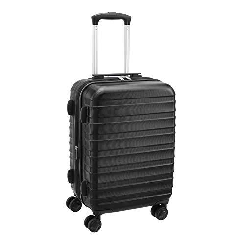 Amazon Basics – Premium-Hartschalenkoffer, robust, 56 cm, schwarz