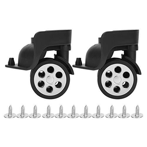 Zweireihiges Koffer-Ersatzrad Verschleißfestes, stummgeschaltetes schwarzes Trolley-Kofferrad zum Wandern im Freien