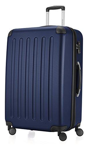 HAUPTSTADTKOFFER - Spree - Hartschalen-Koffer Koffer Trolley Rollkoffer Reisekoffer Erweiterbar, 4 Rollen, TSA, 75 cm, 119 Liter, Dunkelblau