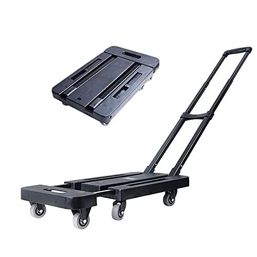 Utility-Carts Tragbarer Warenkorb, rutschfeste Textur-Utility-Trolley, der Multifunktionswagen mit sechs Rädern, die 200 kg / 440LB für den Umzug der Waren Supermarkt einkaufen Einkaufswagen