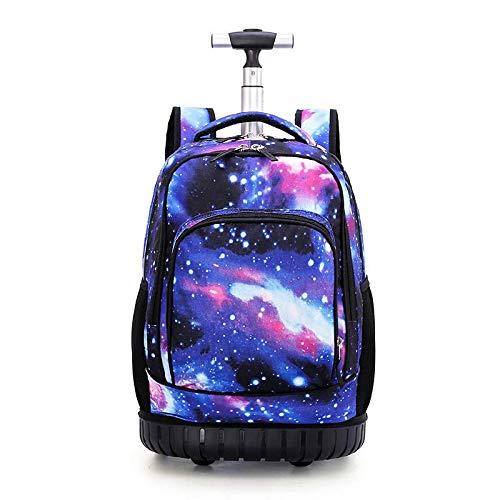 Rollrucksack Schulbuch Pack Handgepäck mit Rollen Multifunktions Trolley Gepäck Rollen Tasche für Jungen und Mädchen Studenten Klasse 5-9