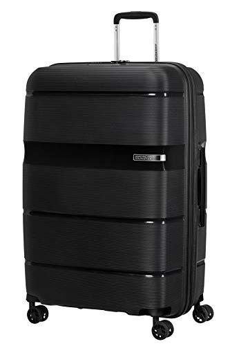 American Tourister Linex - Spinner L Koffer, 76 cm, 102 L, Schwarz (Vivid Black)