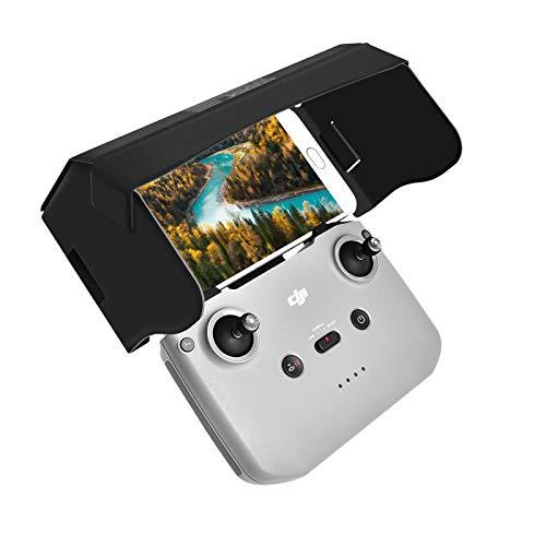 Sun Hood Sunshade für DJI Mavic Mini 2 Fernbedienung, Mavic Air 2 Zubehör Fernbedienung Halterung Handy Sun Hood Sunshade für 4,4-7,1-Zoll-Smartphone-Bildschirm