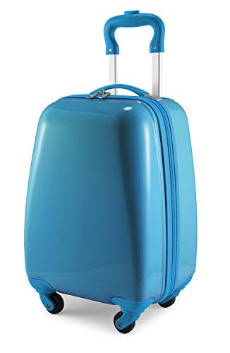 Hauptstadtkoffer - for Kids - Kindergepäck, Kinderkoffer, Hartschalenkoffer, Reise Trolley für Kinder, Handgepäck, 24 Liter, Cyanblau, Kindertrolley