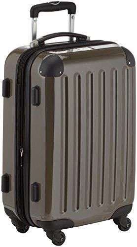 HAUPTSTADTKOFFER - Alex - Handgepäck Hartschalen-Koffer Trolley Rollkoffer Reisekoffer Erweiterbar,  4 Rollen, 55 cm, 42 Liter, Titan
