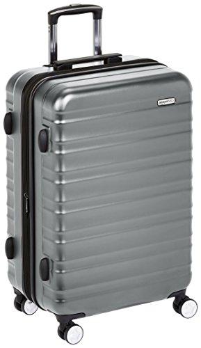 Amazon Basics - Hochwertiger Hartschalen-Trolley mit eingebautem TSA-Schloss, 68 cm, Grau