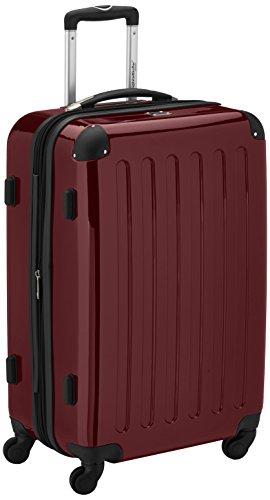 HAUPTSTADTKOFFER - Alex - Hartschalen-Koffer Koffer Trolley Rollkoffer Reisekoffer Erweiterbar, 4 Rollen, TSA, 65 cm, 74 Liter, Burgund