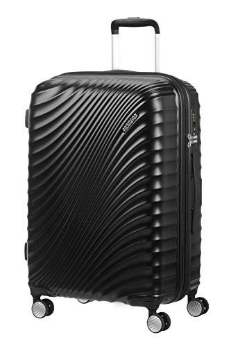 American Tourister Jetglam - Spinner M Erweiterbar Koffer, 67 cm, 77,5 L, schwarz (Metallic Black)
