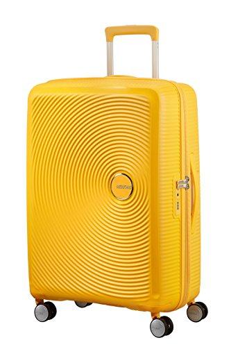 American Tourister Soundbox - Spinner M Erweiterbar Koffer, 67 cm, 81 L, Gelb (Golden Yellow)