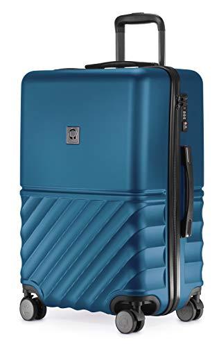 HAUPTSTADTKOFFER - Boxi - Hartschalen-Koffer Koffer Trolley Rollkoffer Reisekoffer TSA, 4 Rollen, 65 cm, 70 Liter, Dunkelblau