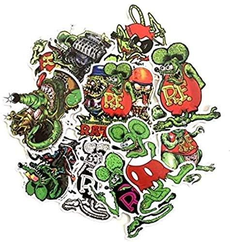 ZJJHX Fink Rat Green Cartoon Aufkleber Koffer Notebook Skateboard Computer Kühlschrank Trolley Gepäckaufkleber 10 Blatt