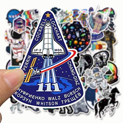 NANANA Astronauten Space Station Aufkleber Cartoon Lunar Rakete Universum Sticky für Trolley Case Skateboard Graffiti Aufkleber 100 Stück