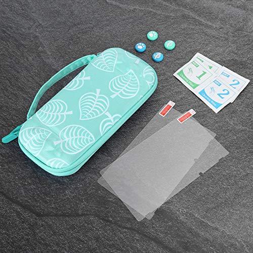 minifinker Aufbewahrungstasche Schutzhülle Tragbar für Switch Game Host(Green, Polar Animals)