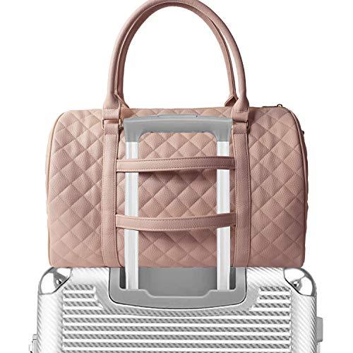 Chavon Damen Gesteppte Weekender Tragetaschen, Schultertasche, Trolley, mit Griff, TSA-Zertifiziert