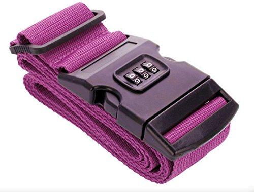 Koffergurt mit 3-stelligem ZAHLENSCHLOSS In Farben erhältlich (Pink)