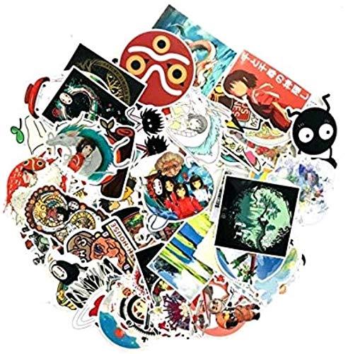 ZJJHX Hayao Miyazaki Chihiro Koffer Trolley Koffer Doodle Aufkleber Notebook Dead Fly Aufkleber Wasserdicht 100 Blatt