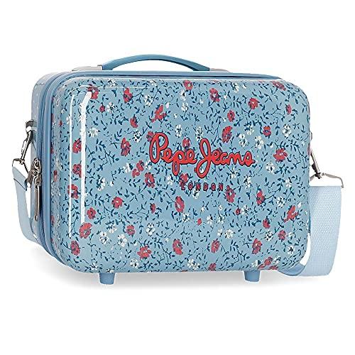 Pepe Jeans AVA Kulturbeutel, ABS, anpassbar an Trolley, Blau, 29 x 21 x 15 cm, ABS