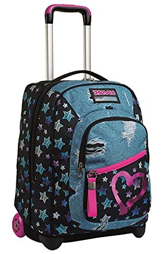 Trolley Seven, Star Plan, schwarz, 2 in 1 Rucksack, abnehmbar, für Schule & Reisen