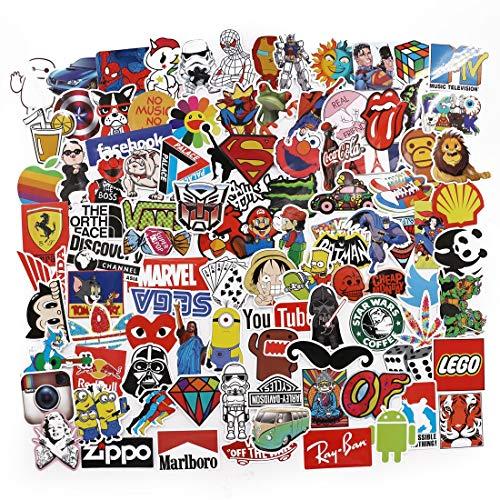 Homejia 100 Stück Verschiedene Arten wasserdichte Vinyl Graffiti Home Decor Doodle Laptop Truck Motorrad Skateboard Gitarre Reise Tasche Aufkleber Zubehör Fenster Aufkleber