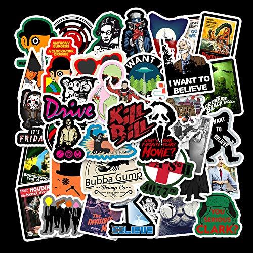 Classic Movie Kill Bill Aufkleber Trolley Case Skateboard Gepäck Elektroauto Helm Wasserdicht Aufkleber 50 Stück